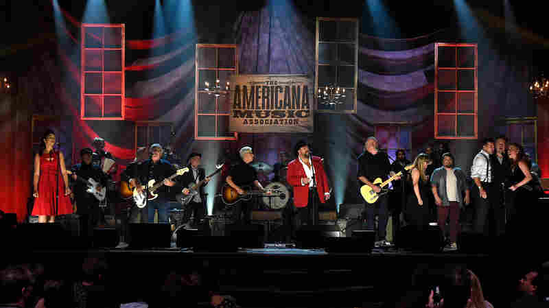 The grand finale at the 14th annual Americana Music Association Honors and Awards Show at the Ryman Auditorium on Sept. 16, 2015 in Nashville, Tenn.