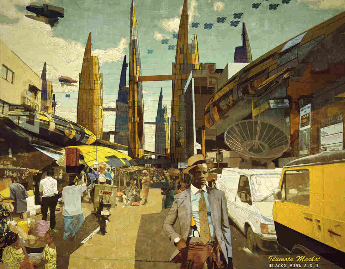 Idumota Market, Lagos 2081 A.D. by Ikire Jones