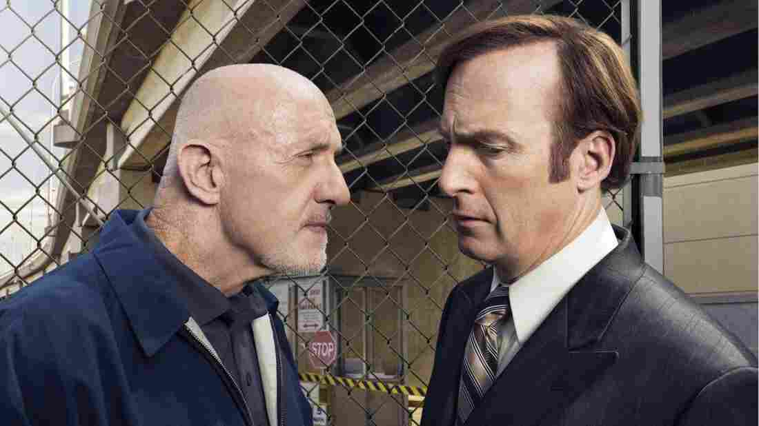 Jonathan Banks (left) and Bob Odenkirk star in the AMC series Better Call Saul, which tops David Bianculli's 2015 10-Best list.