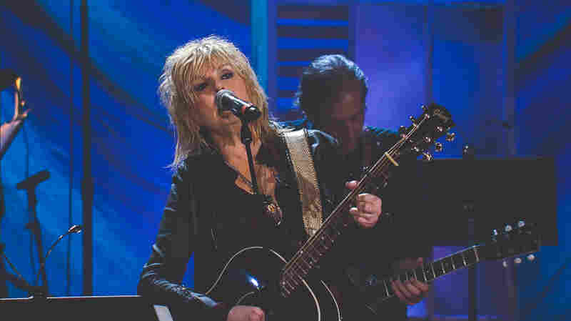 Lucinda Williams performs at the 2015 Americana Music Awards.