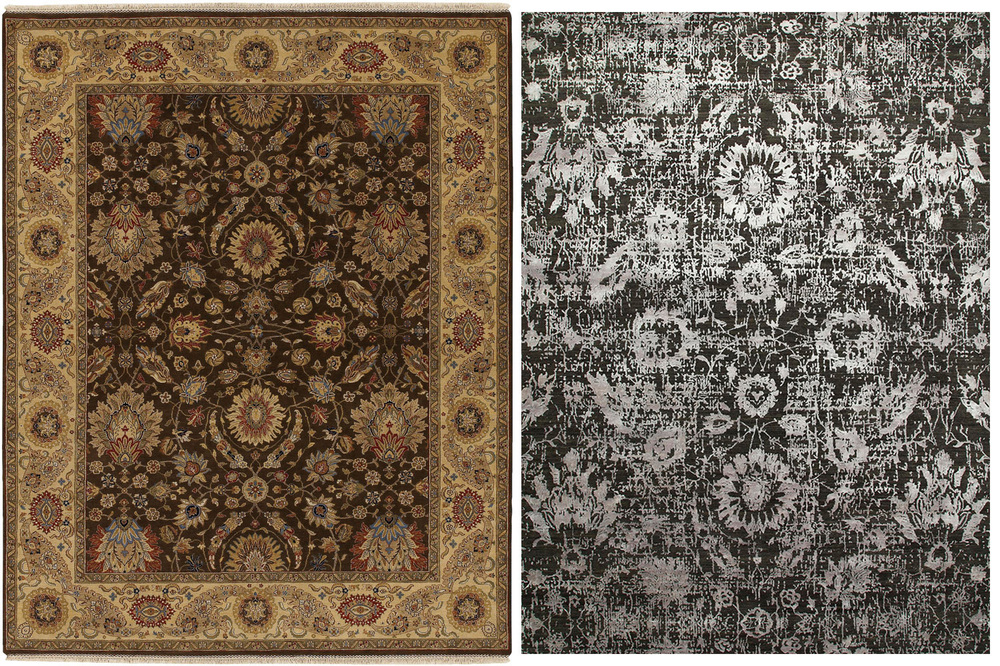 The New Version Right Of A Traditional Indian Rug Is More Contemoprary No