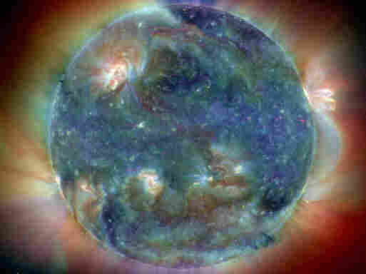 In this composite image, the sun has reached its northernmost point in Earth's sky, marking a season change and the first solstice of the year 2004.