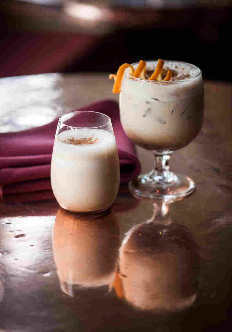 The history of this sweet little drink traces back to Spain's conquest of Peru, and a drink called ponche de huevos, or egg punch.