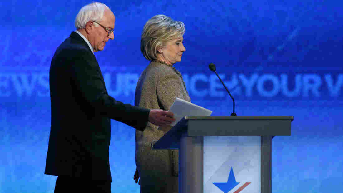 Sen. Bernie Sanders apologized to former Secretary of State Hillary Clinton about the data breach during their Saturday debate in Manchester, N.H.
