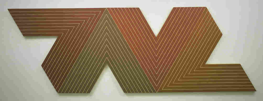 Over a decades-long career, Frank Stella has done sculptures, three-dimensional reliefs, brightly-colored geometric shapes and mostly black paintings that literally changed the way people looked at art. (Pictured here: Empress of India, 1965.)