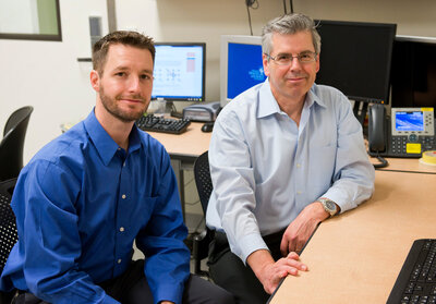 Jeffrey Iliff, left, a brain scientist at Oregon Health & Science University, has been studying toxin removal in the brains of mice. He'll work with Bill Rooney, director of the university's Advanced Imaging Research Center, to enroll people in a similar study in 2016. (Courtesy of Oregon Health & Science University)