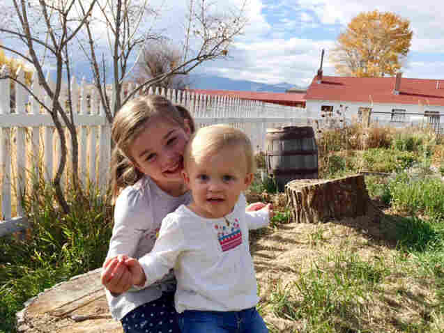 Isla Thompson with her older sister. Isla turned 2 years old in November.