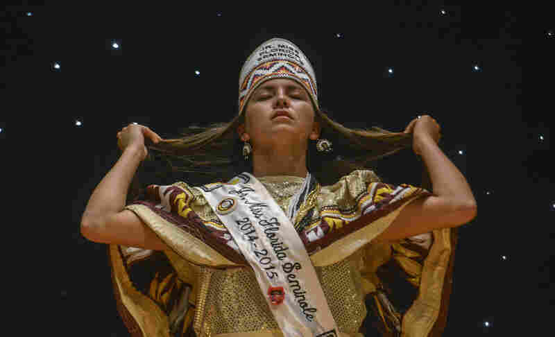 "Cheyenne Nunez's Indian name is Eyvtecet, ""The Shy One,"" yet the 17-year-old 2015 Jr. Miss Florida Seminole is anything but. She's from the Brighton Reservation near Lake Okeechobee."