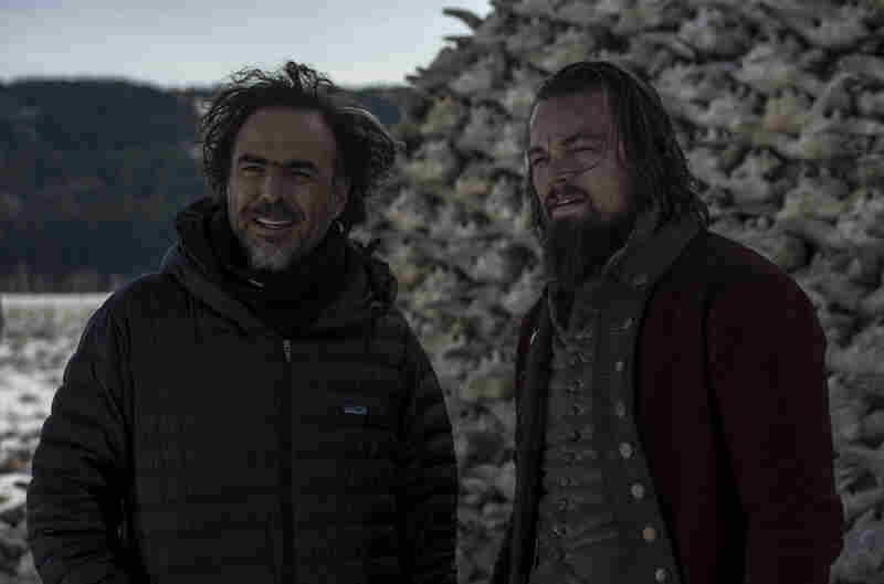 """Leonardo DiCaprio (right) says Iñárritu achieves an experience akin to virtual reality in the film. """"You get the visual perspective of a character in the movie, almost,"""" he says."""