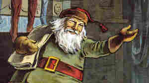 "In the 1823 poem ""A Visit from St. Nicholas"" Clement Clark Moore describes Santa as a ""jolly old elf."" Above, a 1918 illustration of the poem, by William Roger Snow."