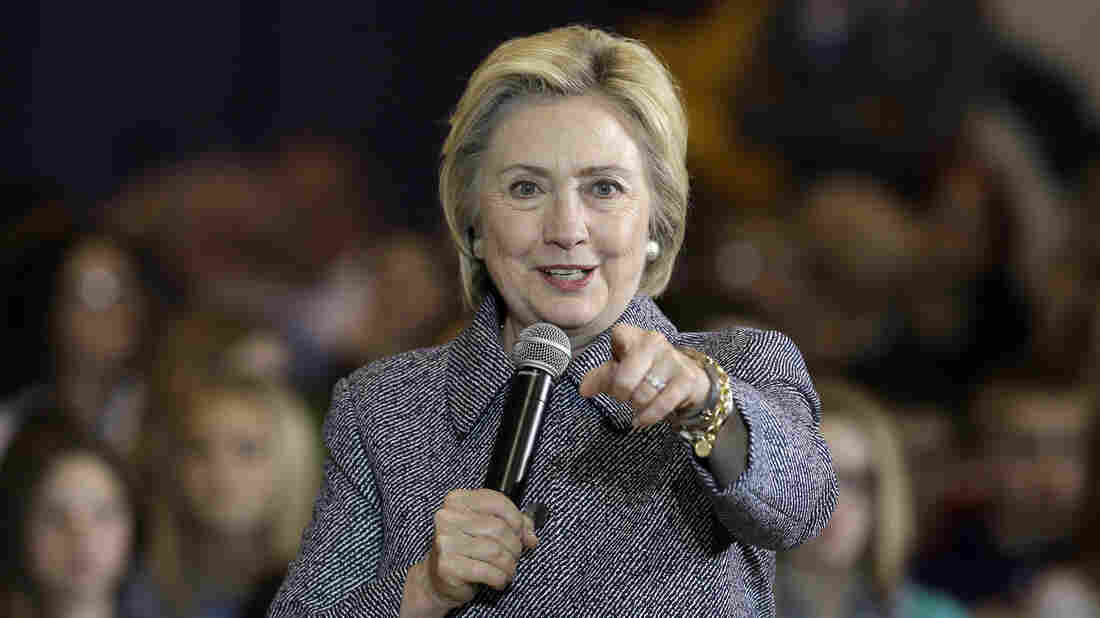 Democratic presidential candidate Hillary Clinton speaks during a town hall meeting at Keota High School, Tuesday, Dec. 22, 2015, in Keota, Iowa. Clinton has come under fire for her latest attempt at Latino outreach.