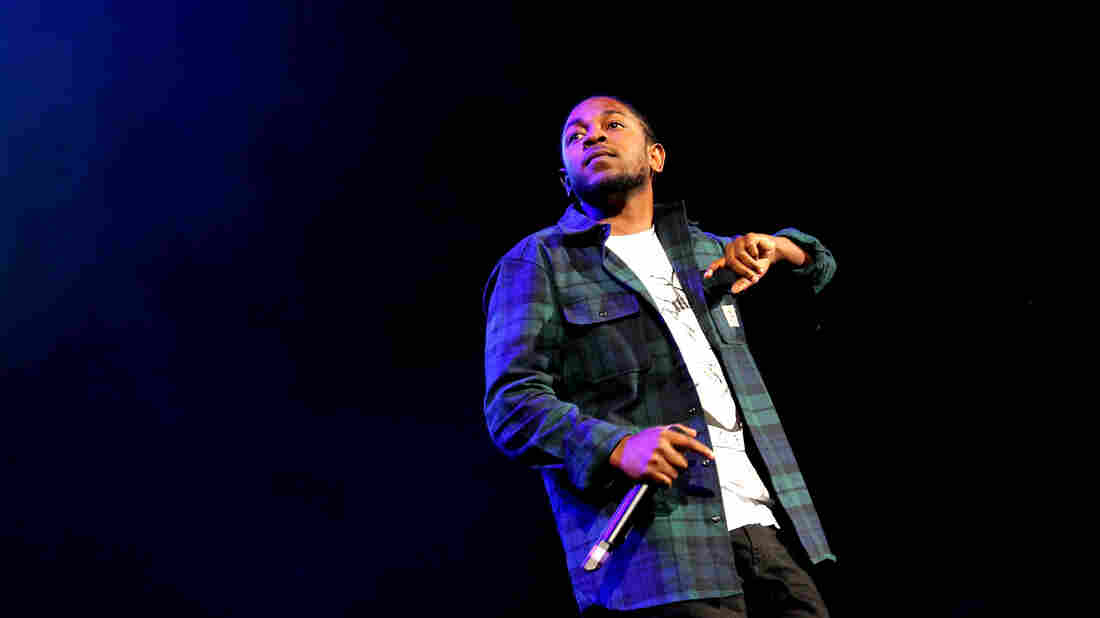 Kendrick Lamar onstage at Brooklyn's Barclays Center in October.