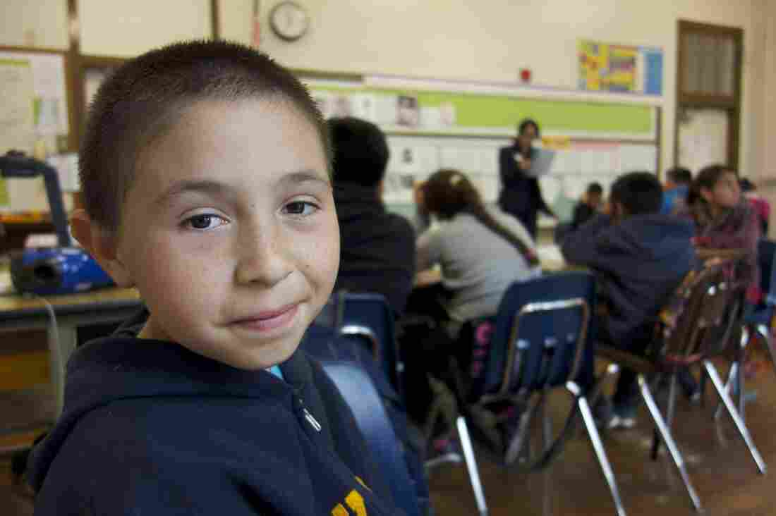 José Anzaldo starts fifth grade at a new school. He went to seven schools during the three years of filming East Of Salinas.