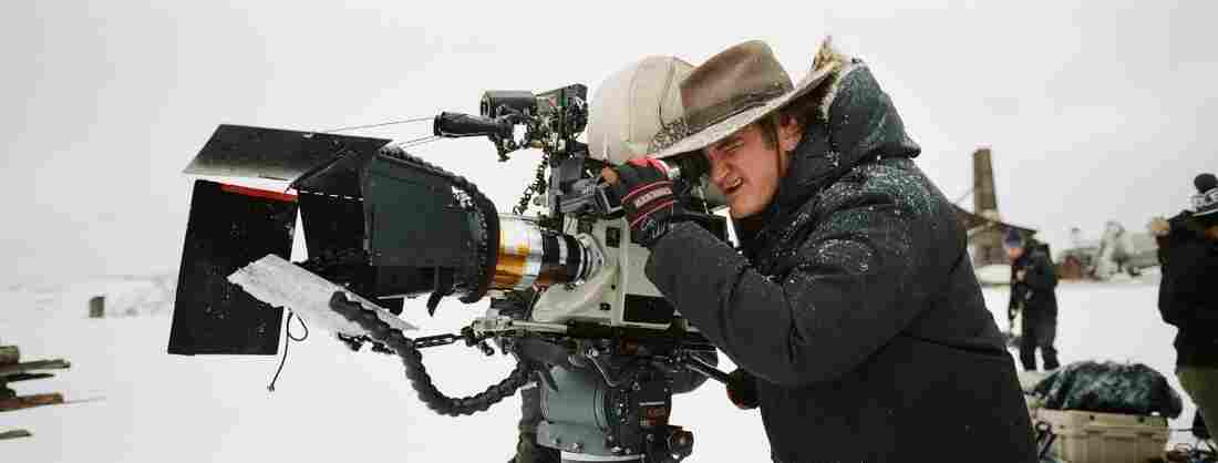 Quentin Tarantino, shown on the set of The Hateful Eight, shot the film on 70 millimeter film — specifically, in Ultra Panavision 70, a format the Weinstein Co. says was last used on 1966's Khartoum.