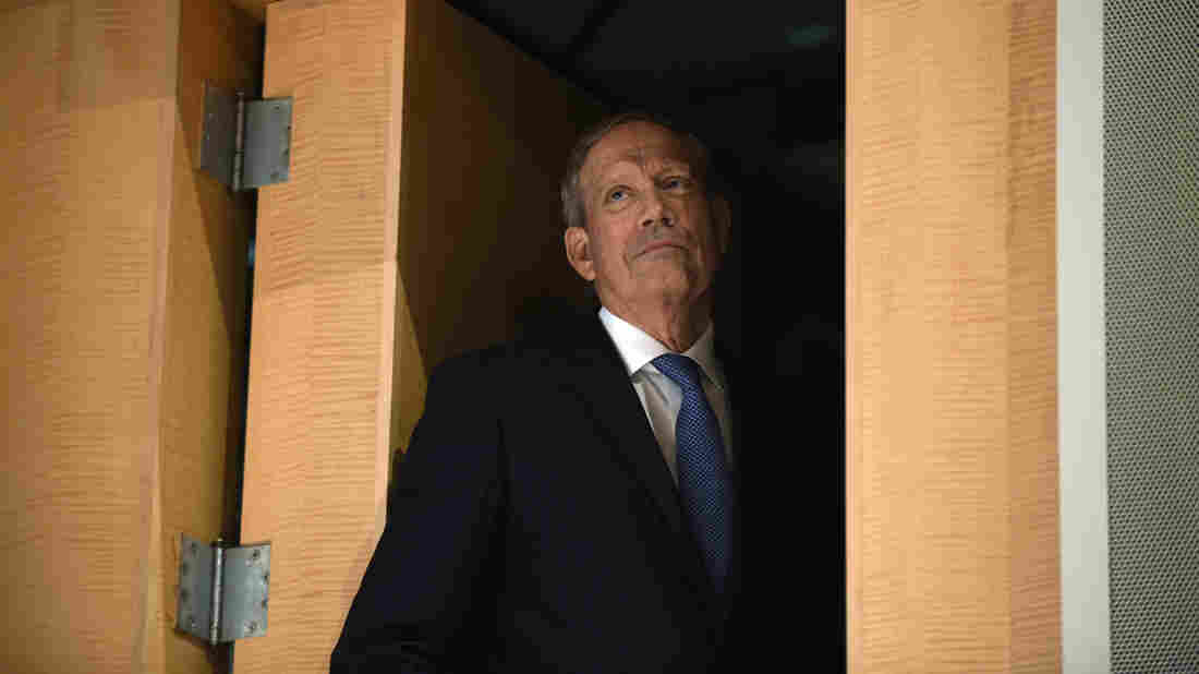 Former New York Gov. George Pataki waits to be introduced to speak at the Republican Jewish Coalition Presidential Forum in Washington earlier this month.