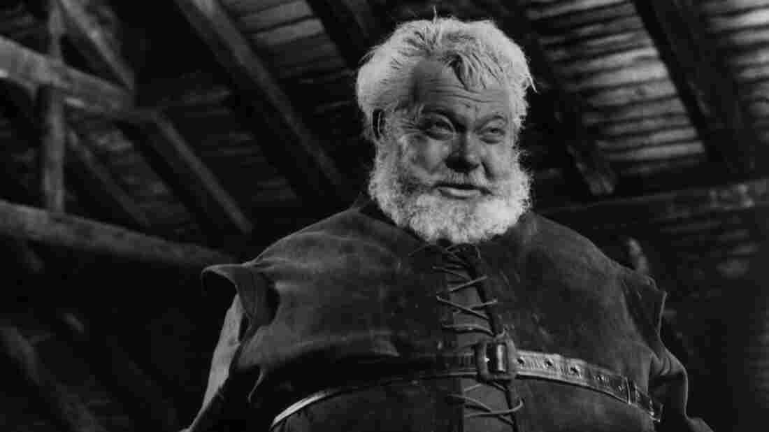 Orson Welles plays Sir John Falstaff, the portly Shakespearean rapscallion in Chimes at Midnight.