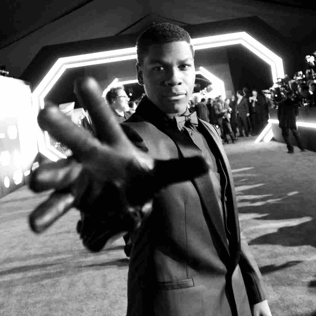 Actor John Boyega attends the world premiere of Star Wars: The Force Awakens in Hollywood. Boyega, the son of Nigerian immigrants, grew up in London.