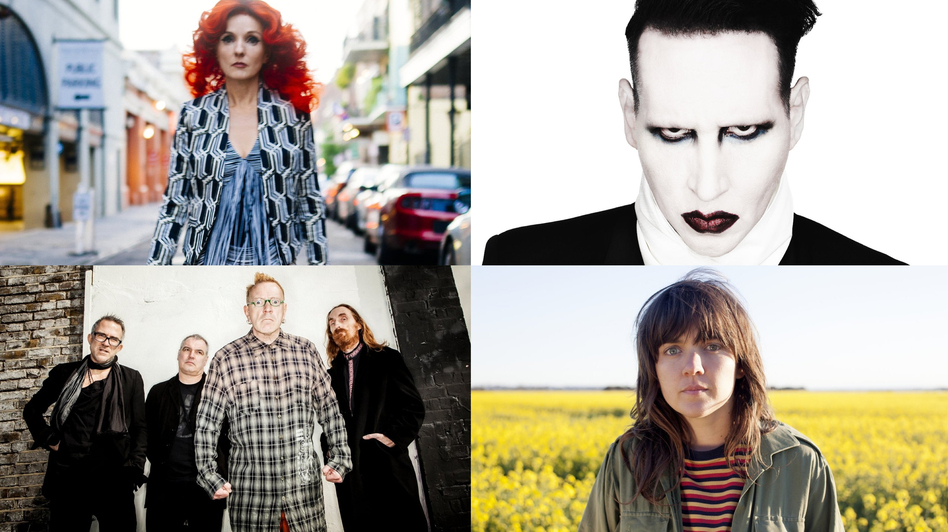 Patty Griffin, Marilyn Manson, John Lydon and Courtney Barnett are all part of World Cafe's Best Of 2015 rebroadcast this week. (Courtesy of the artists)