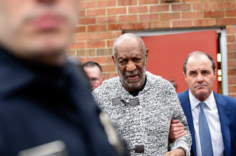 "Bill Cosby arrives Wednesday at the Courthouse in Elkins Park, Pa., to face charges of aggravated indecent assault. Cosby was arraigned over an incident from 2004 --€"" the first criminal charge filed against the actor after dozens of women claimed abuse. (Kena Betancur/AFP/Getty Images)"