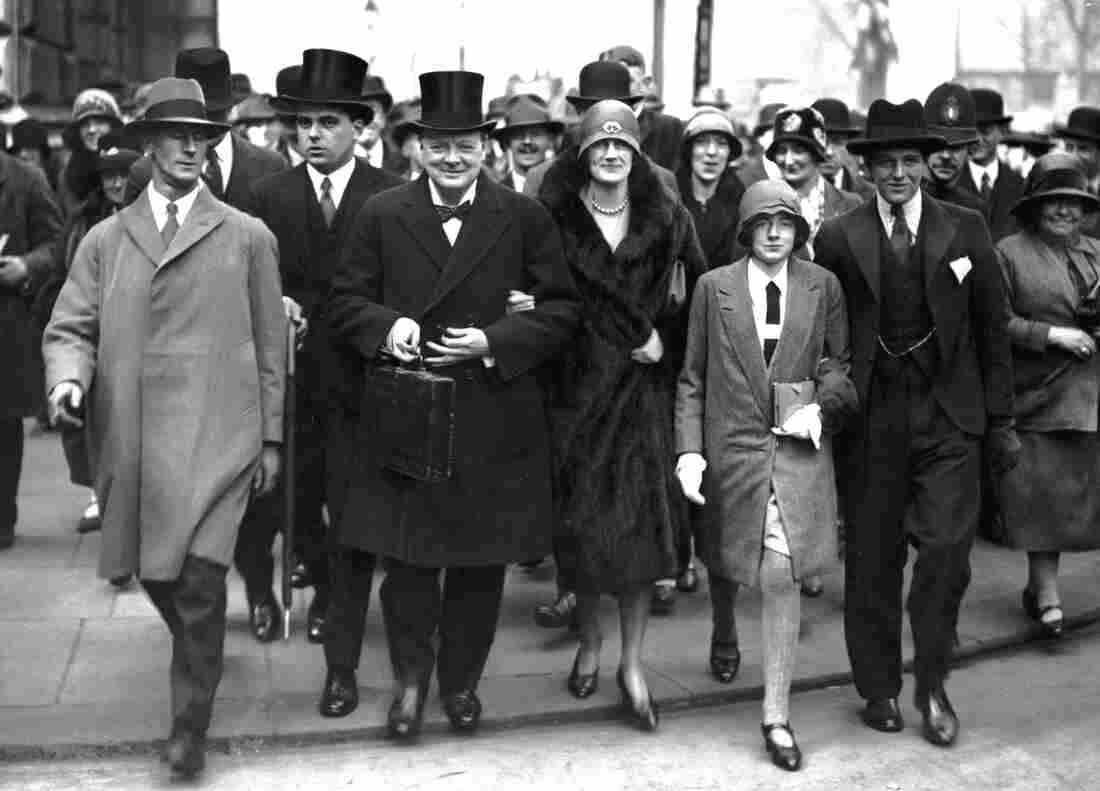 The Churchills — Winston, Clementine, and two of the their children, Sarah and Randolph — head to the House of Commons on Budget Day, April 15, 1929.