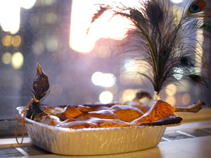 The Planet Money peacock pie, in all its glory.