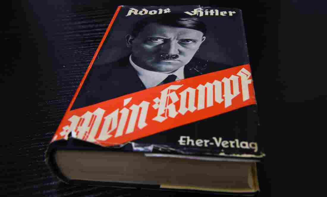 A German edition of Adolf Hitler's Mein Kampf, at the Berlin Central and Regional Library.