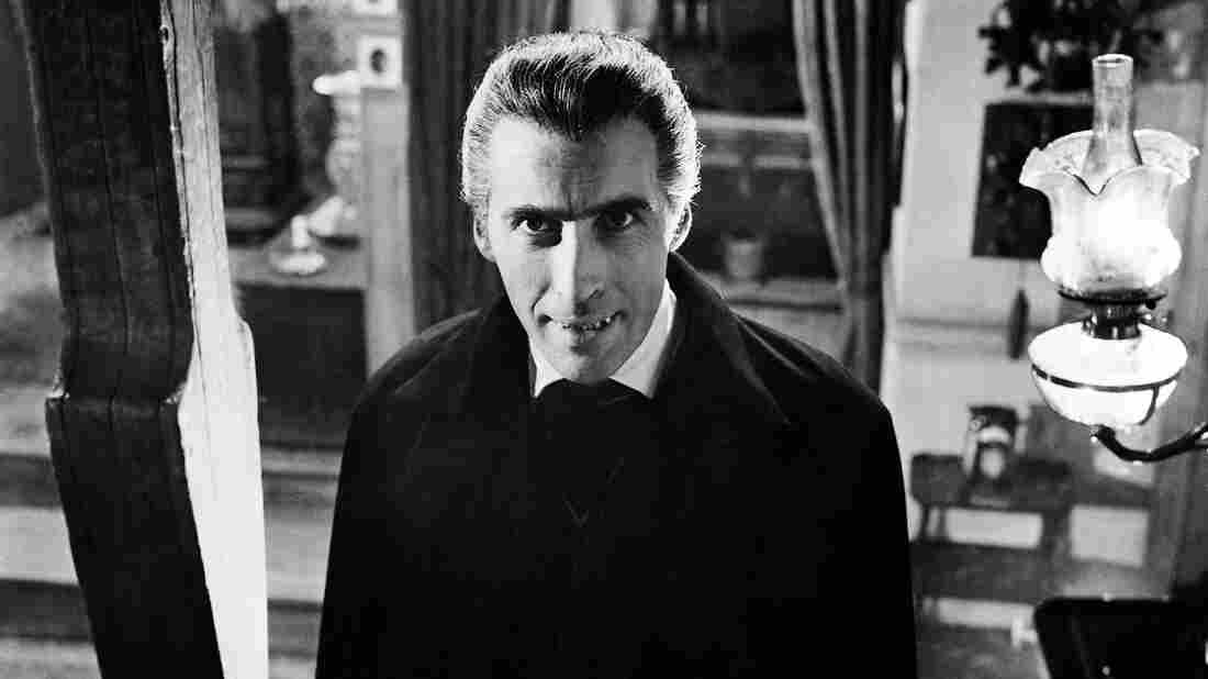 British actor Christopher Lee plays the vampiric count in Dracula, 1958.