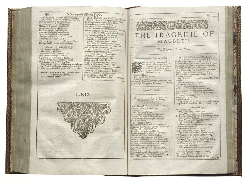 Macbeth is one of the 18 previously unprinted plays that appeared in the First Folio.