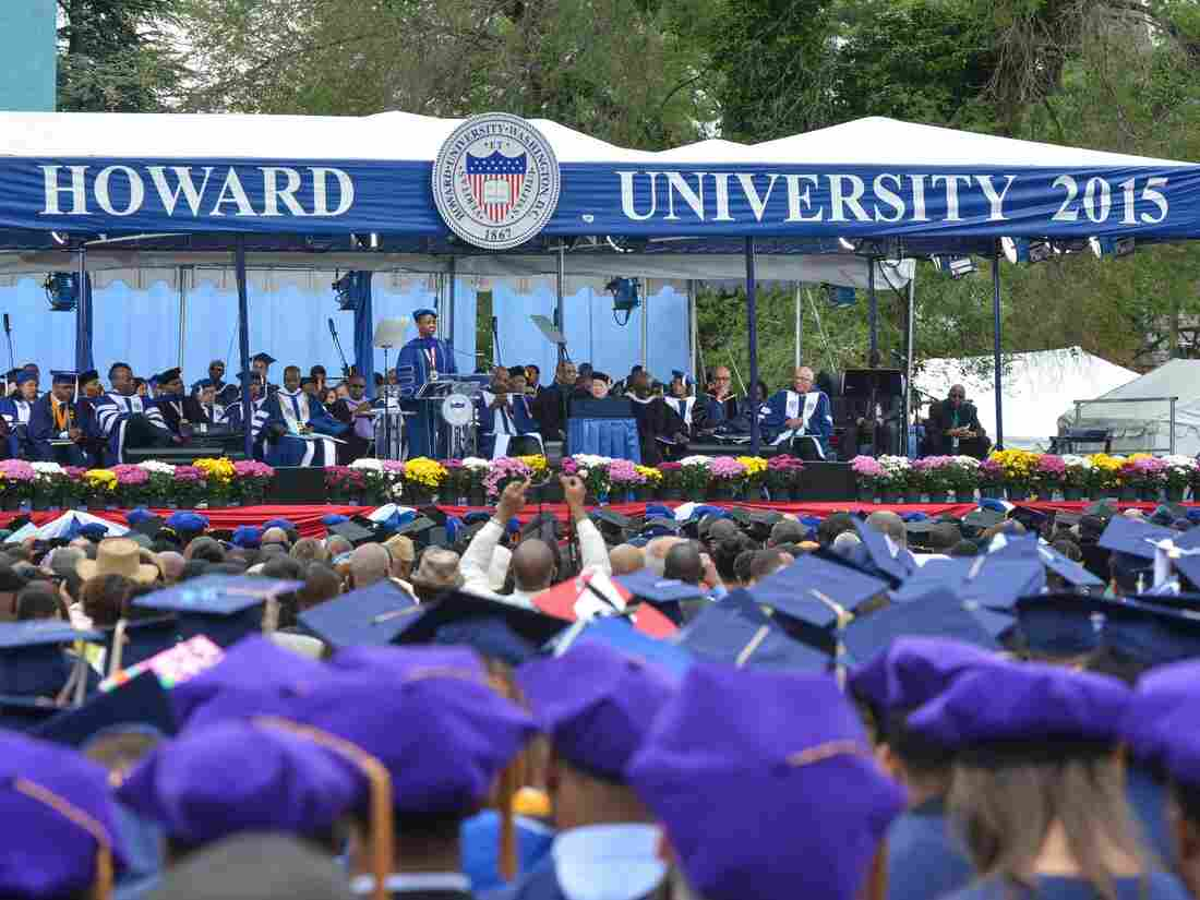 Ursula M. Burns speaking at Howard University on May 9, 2015 in Washington, D.C.
