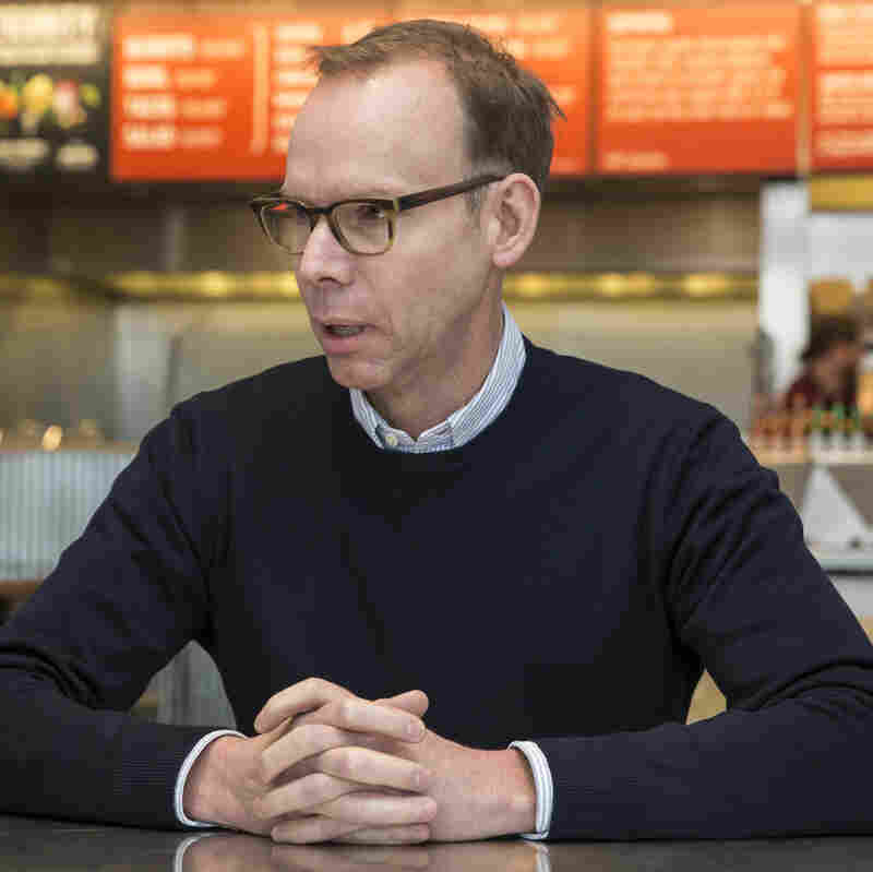 Chipotle Mexican Grill founder and CEO Steve Ells, shown here in an interview with The Associated Press last month, says the company intends to become a leader in food safety.