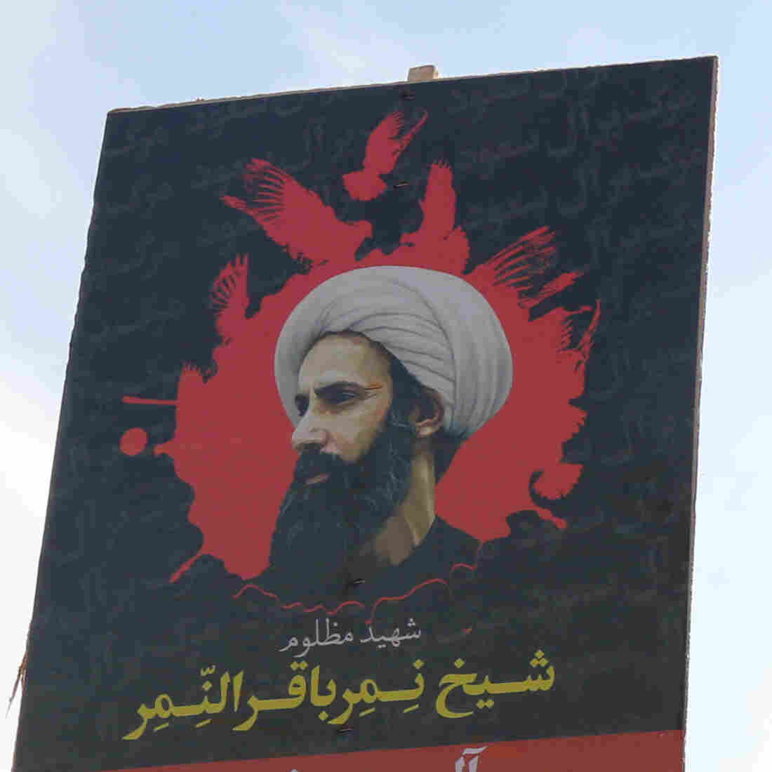 Iranian women in the capital Tehran demonstrate against the execution of a prominent Shiite Muslim cleric Nimr al-Nimr (seen on the signs). He was among 47 people beheaded by Saudi authorities on Saturday, a move that  escalated tensions between the two countries.