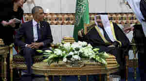 President Obama meets Saudi Arabia's King Salman in Riyadh in January 2015. The Saudi monarch, in power for a year, has adopted more confrontational positions toward Iran, the kingdom's longtime rival.