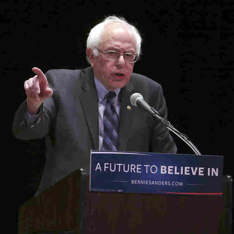 Speaking at Town Hall in New York, Democratic presidential candidate Bernie Sanders promises to crack down on Wall Street.