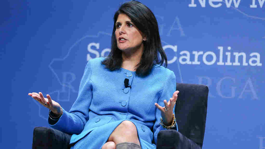 South Carolina Gov. Nikki Haley participates in a panel discussion during the Republican Governors Association annual conference last November in Las Vegas.
