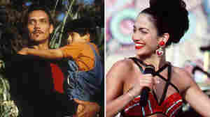 At left, Jimmy Smits in My Family. At right, Jennifer Lopez in Selena.