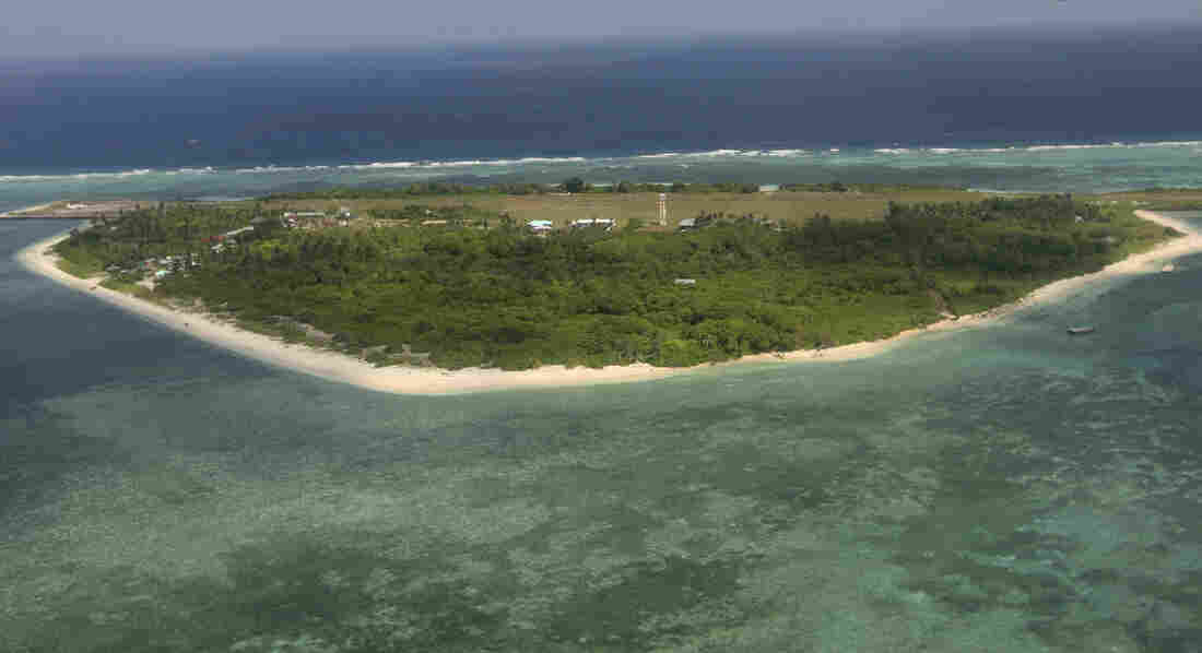 Pag-asa island, part of the disputed Spratly group of islands in the South China Sea, is claimed by both the Philippines and China. It's the only inhabited island in the Spratlys.