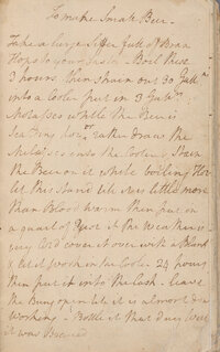 "The NYPL's digital holdings include the papers of notable Americans: letters from Walt Whitman, journals by Nathaniel Hawthorne, receipts from Alexander Hamilton --€"" and George Washington's recipe for ""small beer."" (A transcription is available here.)"