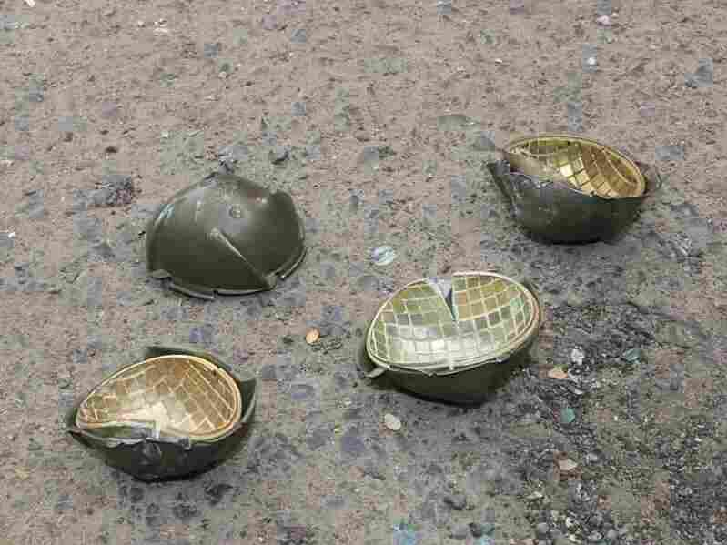 These are submunitions that broke apart Wednesday in the Hayal Sayeed neighborhood of Sanaa in Yemen, Human Rights Watch says.