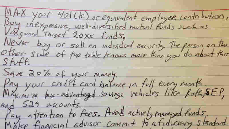 Can The Best Financial Tips Fit On An Index Card?