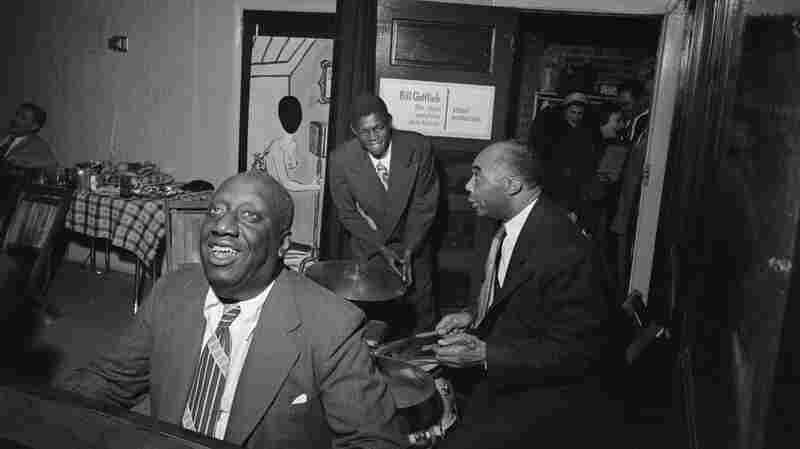 James P. Johnson (front) in the mid- to late 1940s.