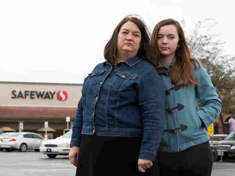 Mary Reed and her daughter, Emma McMahon, at the Safeway where Mary was shot along with 18 others on Jan. 8, 2011.