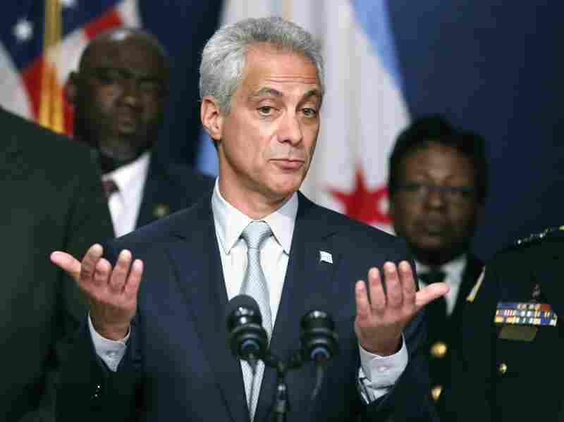 Chicago Mayor Rahm Emanuel responds to a question during a news conference last month about new police procedures.