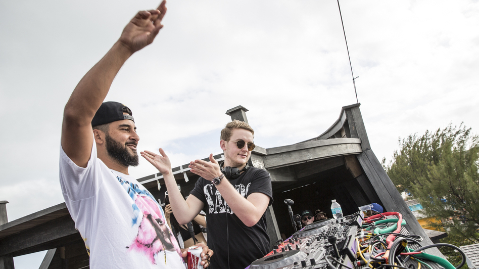 Armand Van Helden and Disclosure's Guy Lawrence at Holy Ship!, January 2015. (courtesy of the artists/Holy Ship!)