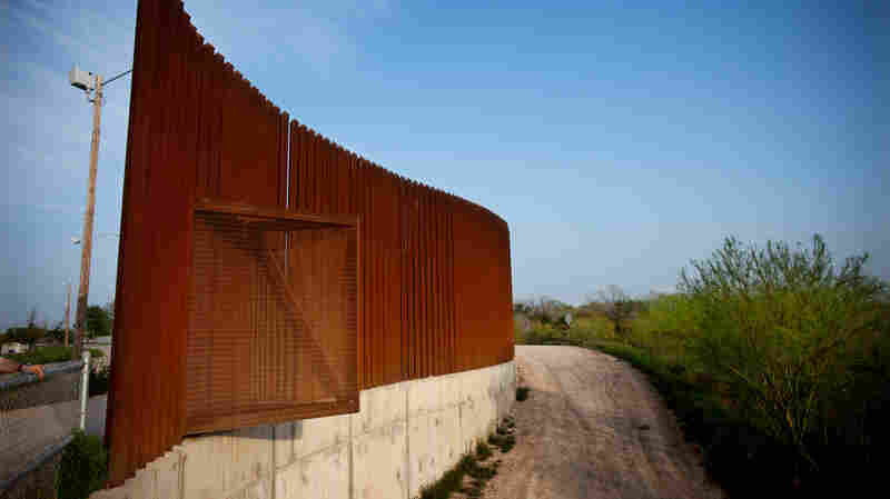 The edge of a fence near the U.S.-Mexico border in Hidalgo, Texas, in 2014.