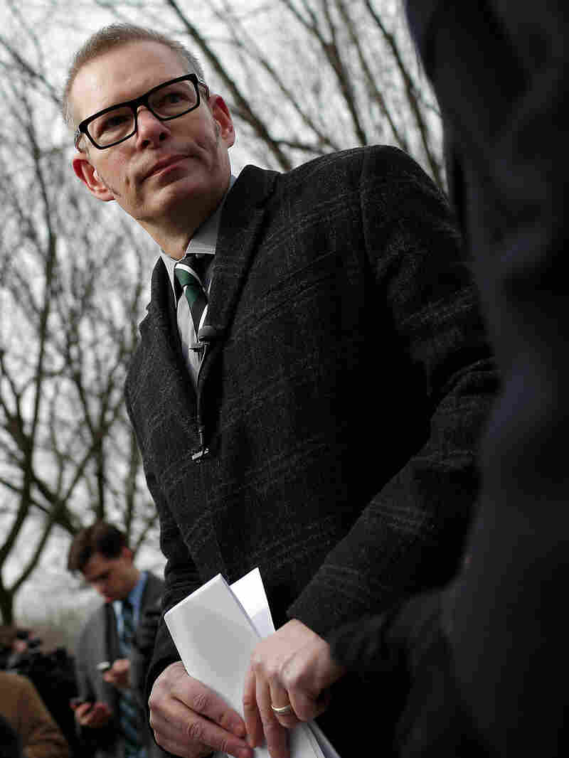 Matt Kibbe, then president of FreedomWorks, speaks at a 2014 press conference announcing the filing of a class-action lawsuit against the Obama administration.