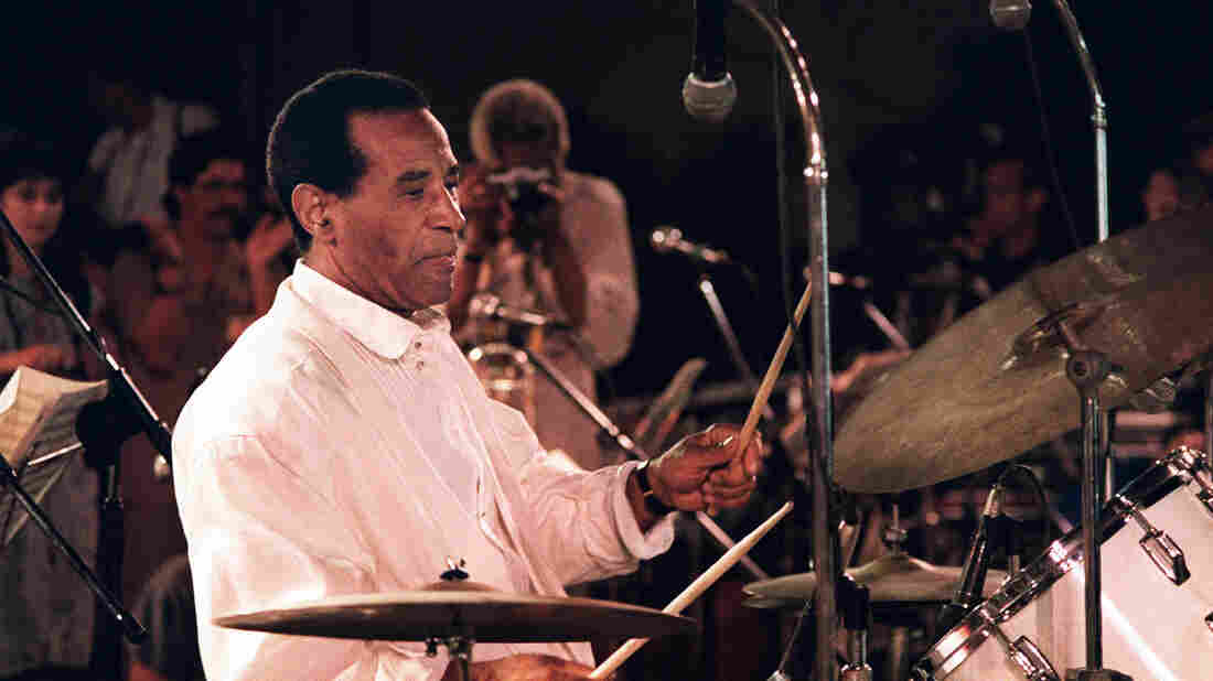 Max Roach performs in Havana, Cuba in 1989.