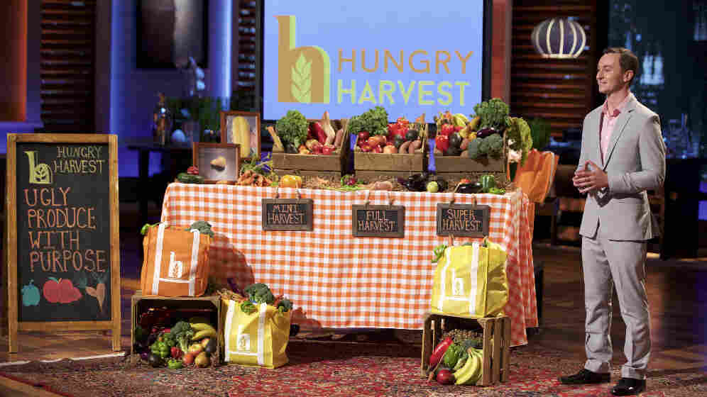 Evan Lutz of Maryland-based Hungry Harvest makes his pitch to the Shark Tank investors on Friday night's episode. The company rescues ugly and surplus produce that might otherwise have landed in the landfill, and sells it to subscribers instead. It also donates a significant amount of produce to groups that feed the hungry.