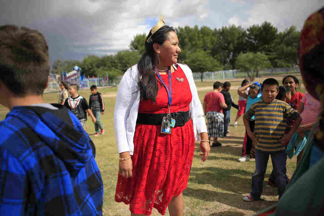 Tia Tsosie Begay is a fourth-grade teacher at a small public school on the outskirts of Tucson, Ariz.