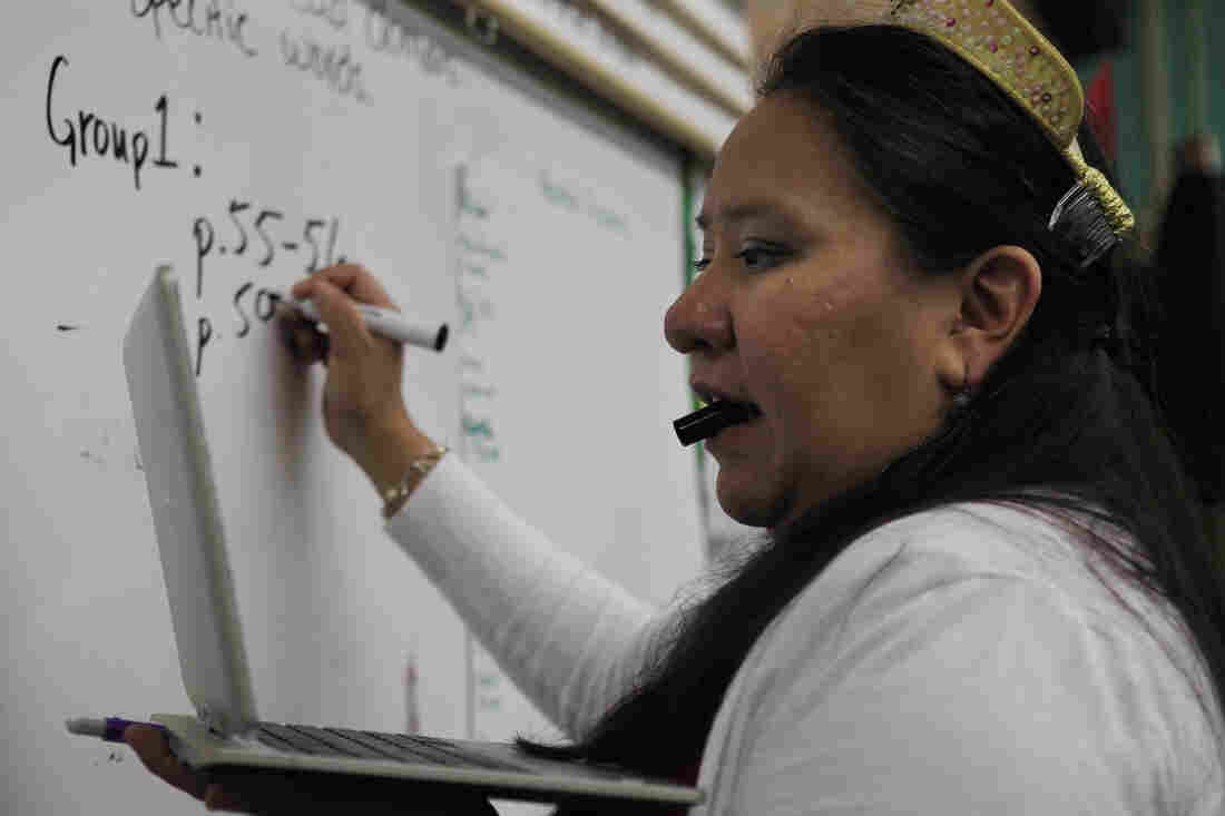 Begay is doing what she loves most: watching the proverbial light bulb go on in students' heads.