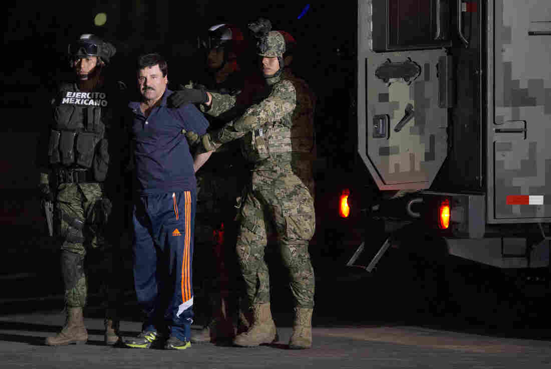 mexican drug lord joaquin  u0026quot el chapo u0026quot  guzman is escorted by